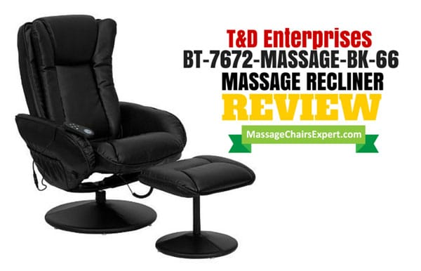 T & D Enterprises BT-7672 Massage Recliner and Ottoman