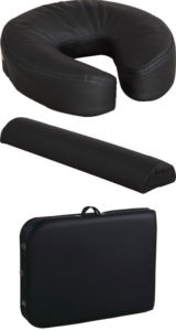 Lightweight face and armrest cradle and carrying case
