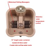 Carepeutic Deluxe Motorized Foot and Leg Spa Bath Massager review